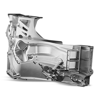 5 axis machined Ford GT front end aluminum structure
